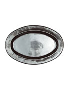 "Pewter Stoneware 21"" Oval Platter"