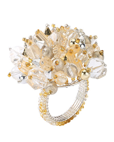 Gold/Silver Crystal Dome Napkin Ring