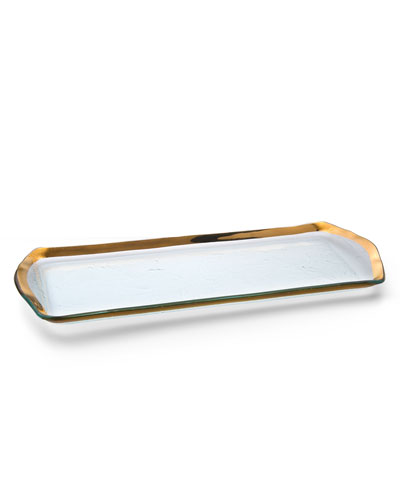 Roman Antique Gold Oblong Pasty Tray