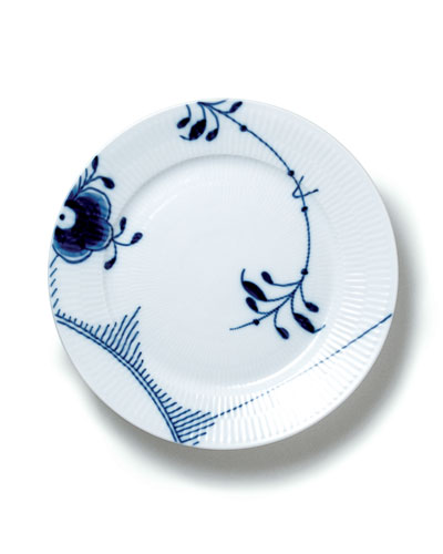 Blue Fluted Mega Salad Plate #2