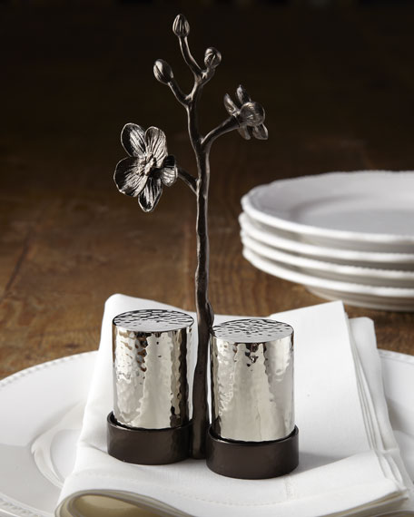 "Michael Aram ""Black Orchid"" Salt & Pepper Set"