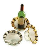 Ruffle Gold Wine Coaster