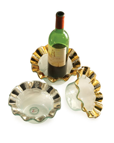 Ruffle Gold Wine Coaster