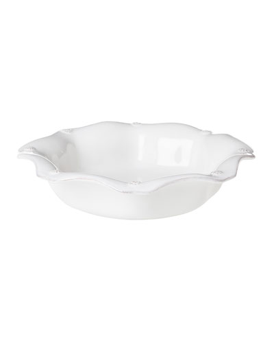Berry & Thread Whitewash Pasta/Soup Bowl