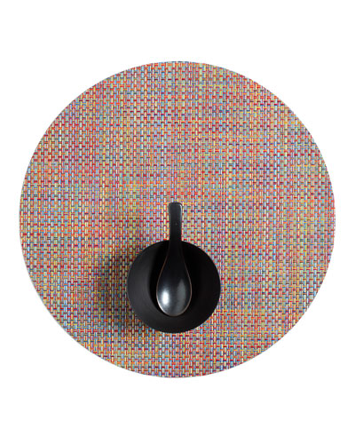 Basketweave Crayon Round Placemat