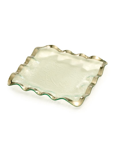 Ruffle Platinum Square Tray