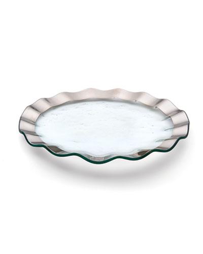 Ruffle Platinum Buffet Plate