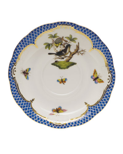 Rothschild Bird Blue Border Saucer #1