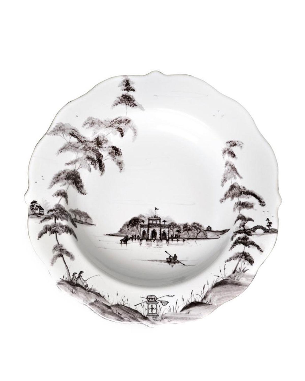 Juliska Dinnerwares COUNTRY ESTATE FLINT PASTA/SOUP BOWL BOATHOUSE