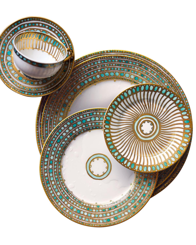 Haviland & Parlon Dinnerwares SYRACUSE TURQUOISE DINNER PLATE