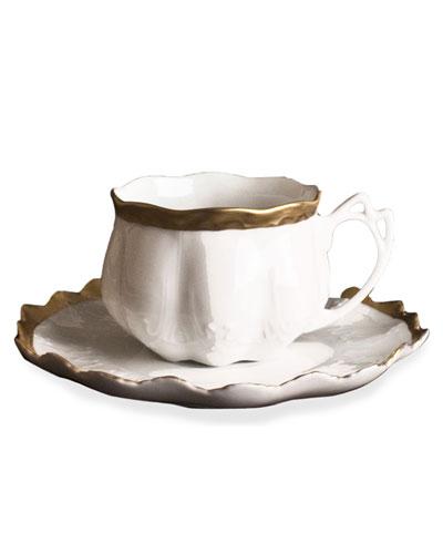 Golden Patina Teacup & Saucer
