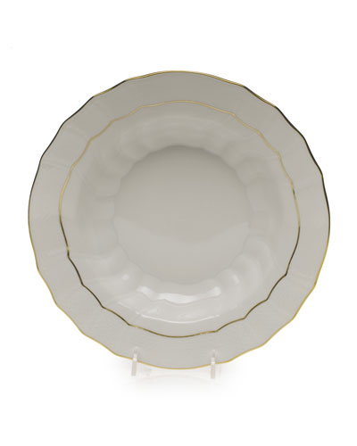 Golden Edge Soup Bowl, Large