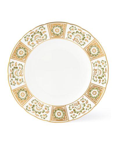 Derby Panel Green Dinner Plate