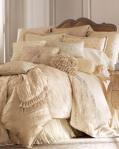Lattice/Faux-Pearl European Pillow, 26
