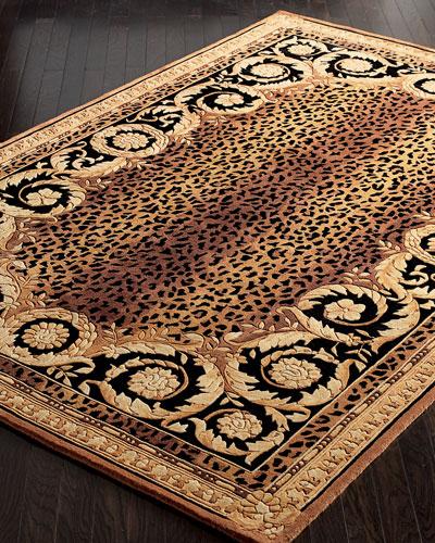 Roman Leopard Rug, 5' x 8'