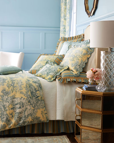 Queen Lutece Cypress Toile Duvet Cover