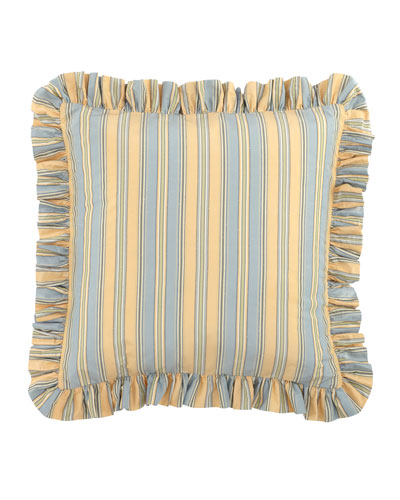 European Lutece Cypress Striped Sham
