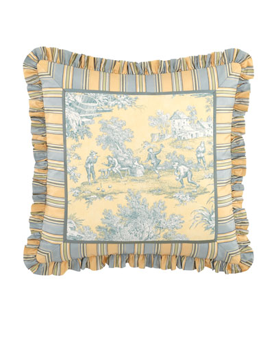 Lutece Cypress Toile Pillow, 20