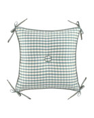 "Lutece Cypress Checked Pillow, 18""Sq."
