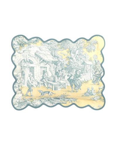 Lutece Cypress Toile Pillow, 12