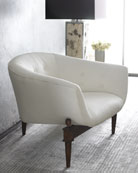 White Scoop Chair