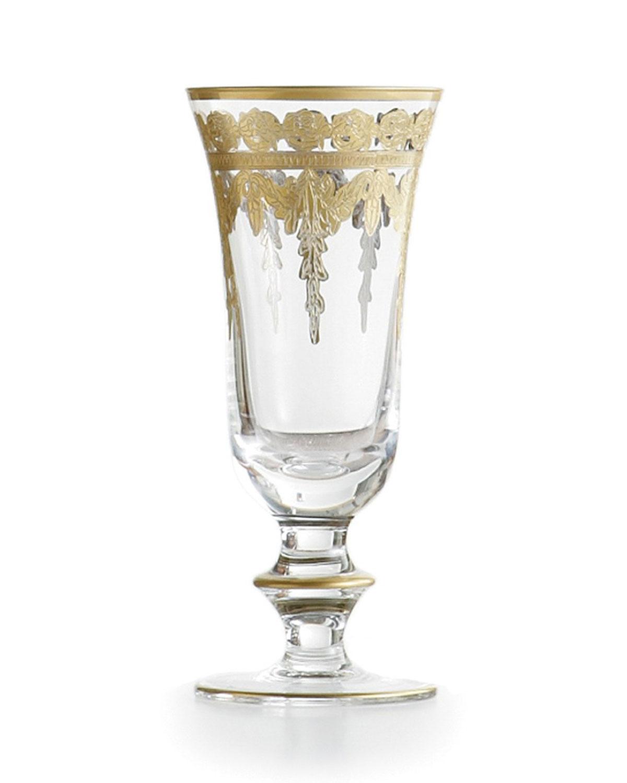 Arte Italica Barware & accessorys VETRO GOLD CHAMPAGNE FLUTE