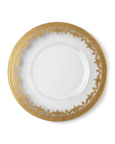 Four Vetro Gold Salad Plates