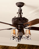 Antoinette Ceiling Fan & Light Kit & Matching