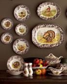 Turkey Dinner Plates, Set of 4
