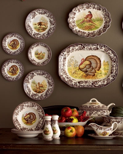Turkey Dinner Plates, Set of 4