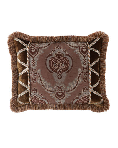 Each Brompton Court Passementerie King Medallion-Center Sham
