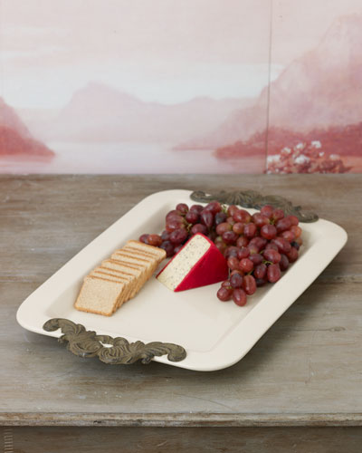 Rectangular Serving Tray with Handles