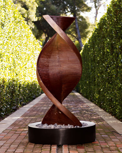 Twisted Copper Fountain