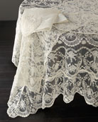 "Chantilly Lace Tablecloth, 90"" Round"