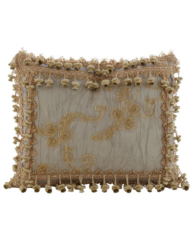Crystal Palace Organza/Ribbon Rosette Pillow, 13