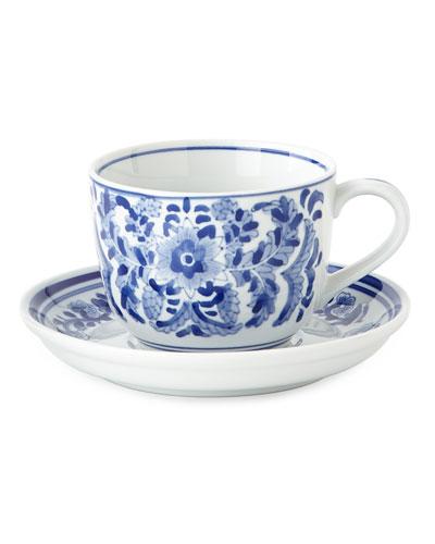 12 14-oz. Traditional Cups u0026 Saucers  sc 1 st  Neiman Marcus & Ceramic Hand Painted Dinnerware | Neiman Marcus