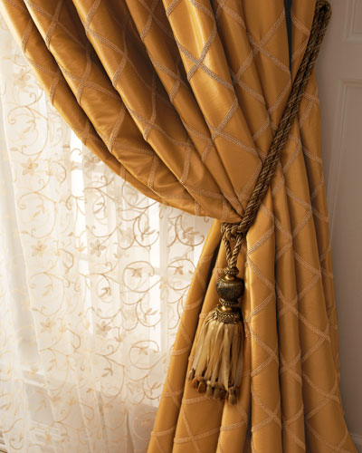 Champagne Gold Curtains | Neiman Marcus