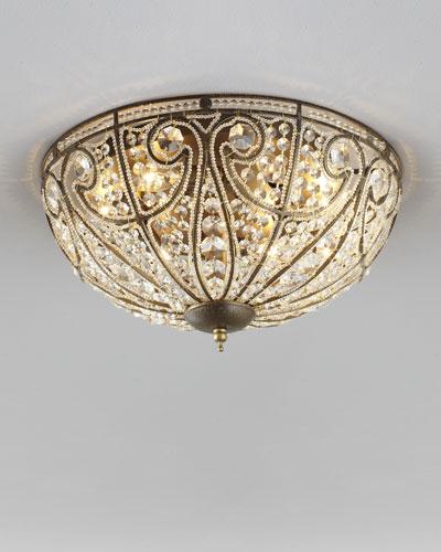 Beaded ceiling light fixture neiman marcus elizabethan large flush mount ceiling light mozeypictures Gallery