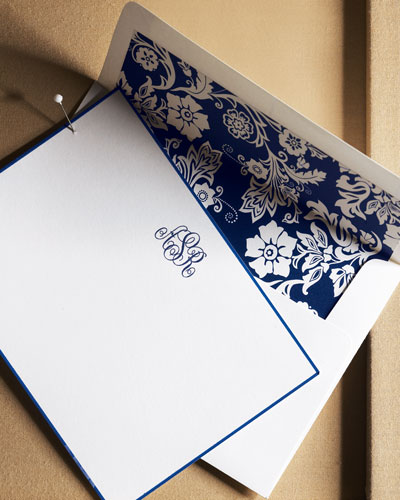 25 Cards with Initial/Plain Envelopes