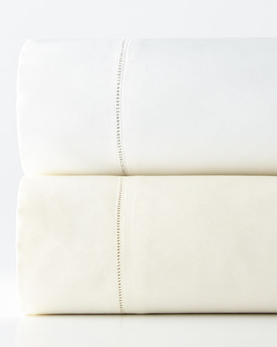 Two King 1,020TC Lace Sateen Pillowcases