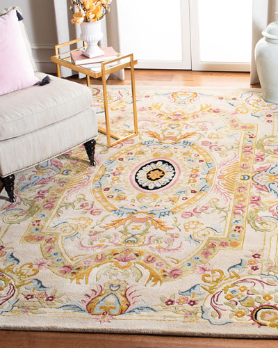 Feather Medallion Rug, 3' x 5'