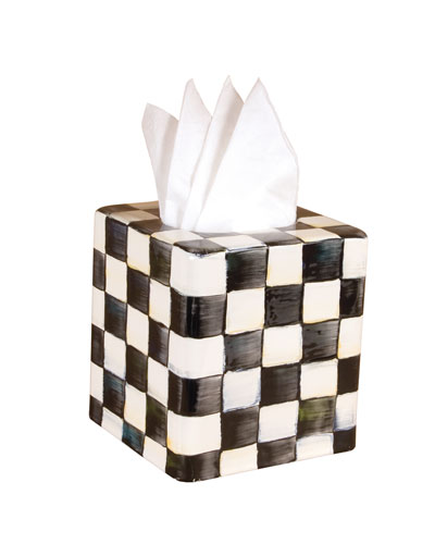 Courtly Check Tissue Box Cover