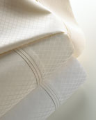 Two Standard 600 Thread Count Diamond Jacquard Sateen Pillowcases