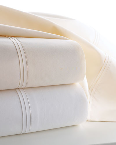 Marcus Collection King 600 Thread Count Solid Percale Sheet Set