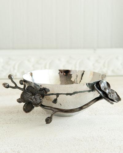 Black Orchid Nut Bowl