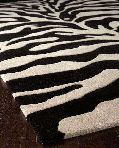 Fair Ivory Zebra Rug, 6' Round
