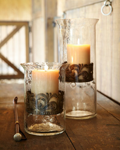 Small Glass Candleholder