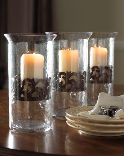 Medium Glass Candleholder