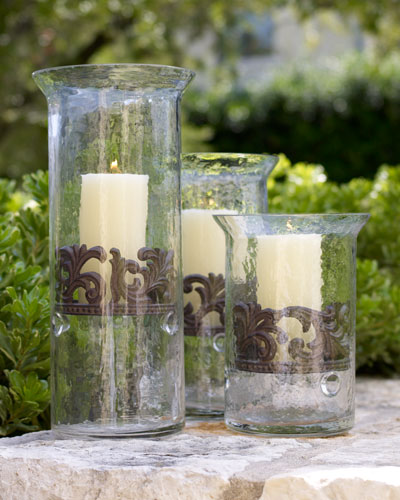 Large Glass Candleholder