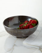 "Pewter Stoneware 10"" Serving Bowl"